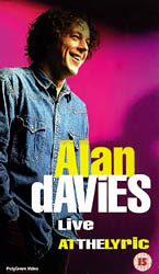 Alan Davies Live at the Lyric video front cover